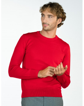 Pull col rond pure laine -...